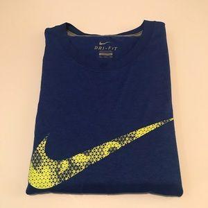 Nike men blue shirt
